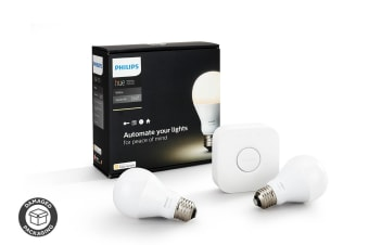 Philips Hue White A19 Starter Kit (2 x Bulbs) - (Damaged Packaging)