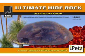 URS Reptile Large Ultimate Hide Rock Decoration for Snakes, Lizards 38x22.5x17cm