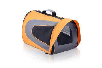 Pet Dog Cat Carrier Travel Bag Large (Orange)