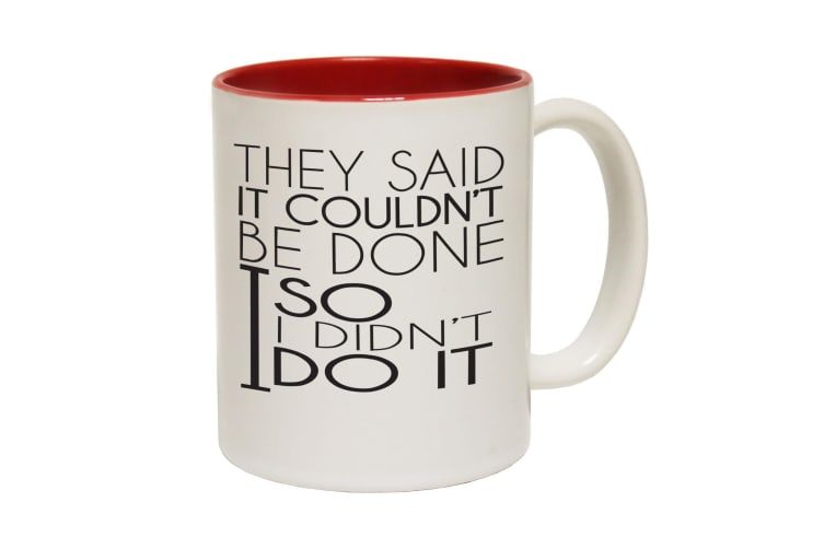 123T Funny Mugs - Couldntdone Didnt - Red Coffee Cup