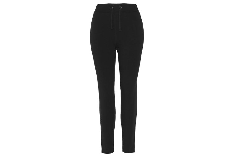 AWDis Just Cool Womens/Ladies Girlie Tapered Jogging Trousers (Jet Black) (M)