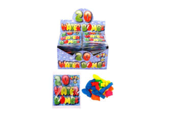 Henbrandt 20 Assorted Neon Coloured Water Bombs (Box Of 48) (Multicoloured)