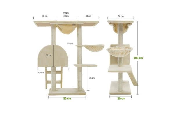 Cat Tree Scratcher ATACAMA 100 cm - BEIGE