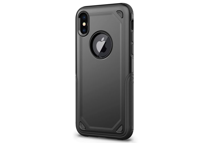 For iPhone XS Max Cover Shockproof Rugged Armour Shielding Shield Case Black