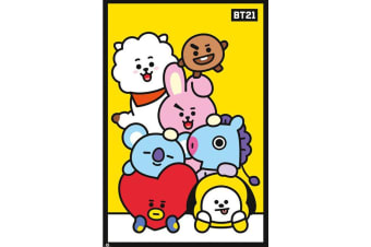 BT21 Pileup 126 Poster (Multicoloured) (One Size)