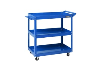 New Giantz Tool Cart 3-Tier Parts Steel Trolley Mechanic Storage Organizer Blue