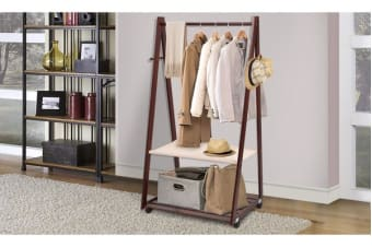 XLarge Wooden Coat Stand Shoe Rack Shelve Storage Hat Wardrobe Umbrella Hanger