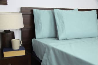 Apartmento Micro Flannel Sheet Set (Turquoise, Single)