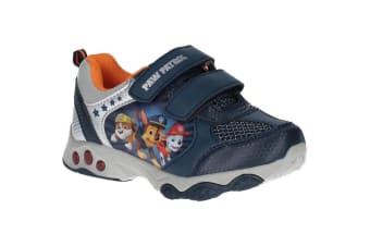 Leomil Paw Patrol Boys Chase Rubble And Marshall Lights Up Trainer (Navy)