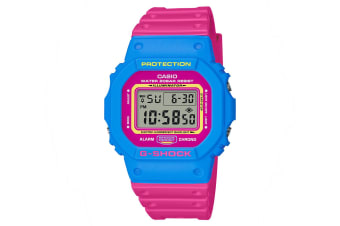 Casio G-Shock 45mm Sport Watch w/Timer Stopwatch Calendar Alarm Pink/Blue