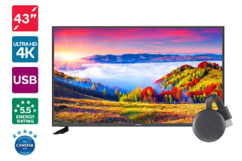 "Kogan 43"" 4K LED TV (Series 8 JU8100) + Chromecast 3"