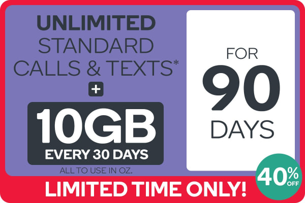 Kogan Mobile Prepaid Voucher Code: LARGE (90 Days | 10GB Per 30 Days) - New Customers Only