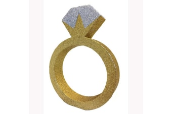 Creative Party Gold Glitter Engagement Ring Table Decoration (Gold)