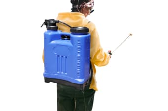 20L Pressure Backpack Water Sprayer Garden Pump Chemical Spray Weeds Killer Blue