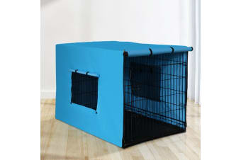 "36"" Dog Cage With Cover Pet Crate Kennel Folding Collapsible Portable"