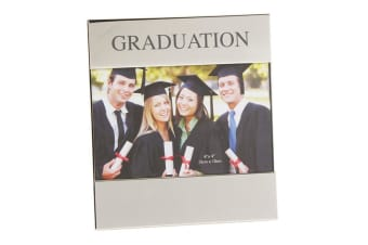 Widdop Shiny Silver Plated Graduation Photo Frame (Silver) (6 x 4 inch)