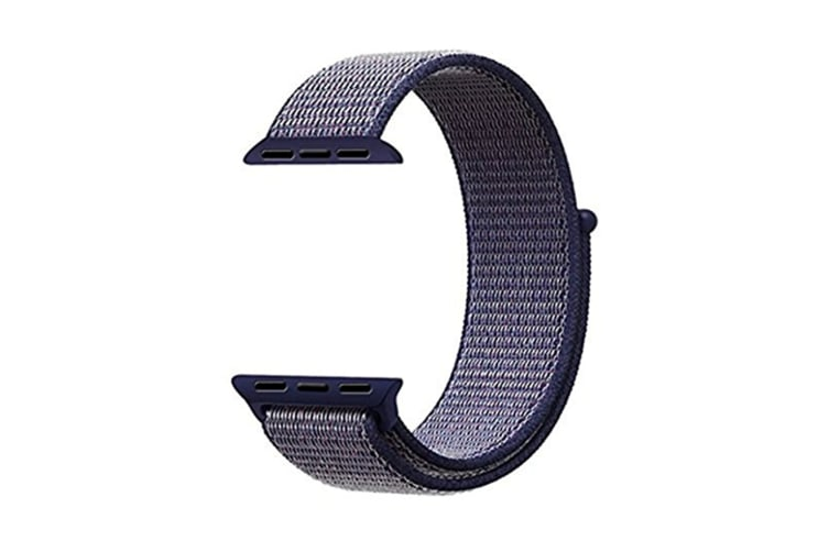 Smart Watch Band, Nylon Sport Loop Wrist Strap Replacment Band For Iwatch Series 1 /2 / 3 Blue 38Mm