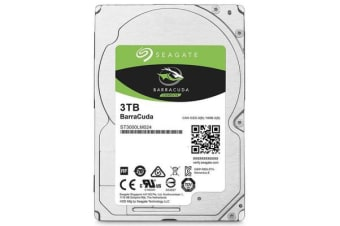 Seagate 3TB 2.5' Barracuda, 5400RPM 15mm 128MB cache Notebook / Laptops HDD (ST3000LM024) 2 Years Warranty