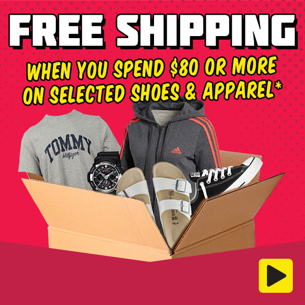 Free Shipping When You Spend $80 or More on Selected Shoes & Apparel*