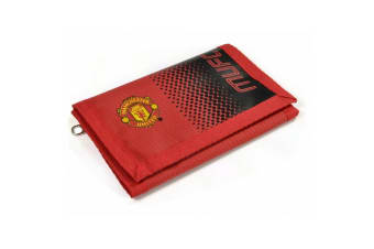 Manchester United FC Official Football Fade Design Wallet (Red/Black)