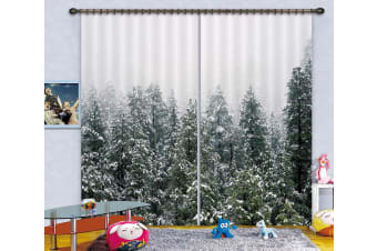 3D Heavy Snow Forest 129 Curtains Drapes
