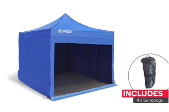 Komodo Premium 3m x 3m Pop Up Gazebo Marquee with Sandbags