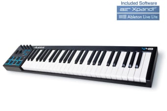 Alesis V49 49 Key USB MIDI Keyboard Make/Play Music for PC/Mac inc. USB Cable