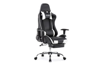 Leather Executive Office Chair Gaming Chair w/ Footrest