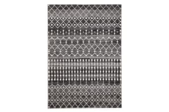 Simplicity Black Transitional Rug 230x160cm