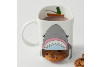 Shark Attack Mug With Cookie Shelf