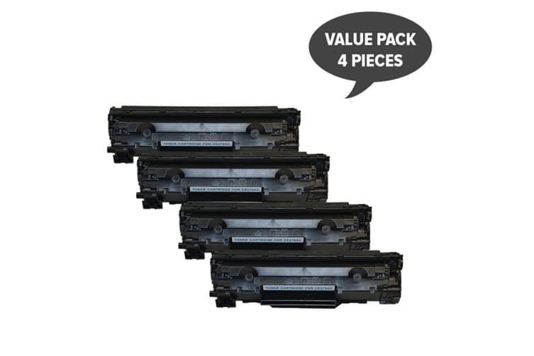 CE278 HP #78A Cart326 Black Generic Toner (Four Pack)