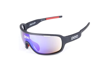 Outdoor Polarizing Glasses For Men And Women Sports Cycling Glasses 5-Piece Suit - 1 Black 5Pcs