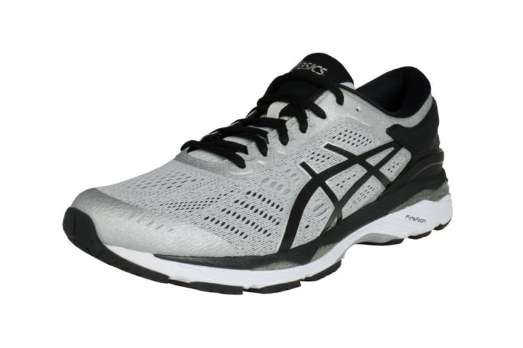 ASICS Men's Gel-Kayano 24 Running Shoe (Silver/Black/Mid Grey, Size 11.5)