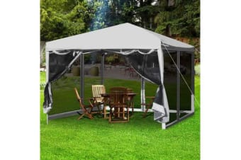 Easy Pop Up Gazebo Screen House with Mesh Walls GREY