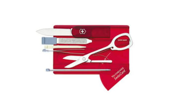 Victorinox Cyber Swiss Card Swiss Army Knife Ruby