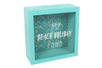 Something Different My Beach Holiday Fund Money Box (Turquoise)