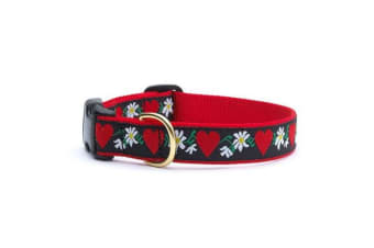 Up Country Hearts And Flowers Collar (Red/Black) (M)