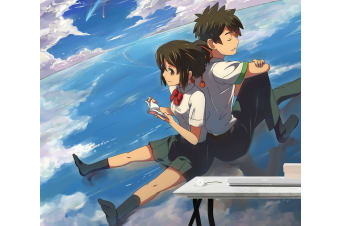3D Your Name 076 Anime Wall Murals Woven paper (need glue), XXL 312cm x 219cm (WxH)(123''x87'')