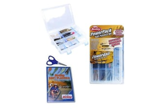 Berkley PowerPack Soft Plastics Kit-Complete 45 Pce Kit + DVD & Braid Scissors