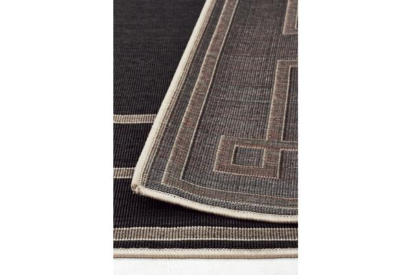Shanghai Charcoal Outdoor Rug 220X150cm