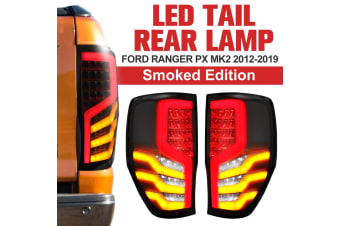LIGHTFOX Smoked LED Tail Rear Lamp Lights Fit Ford Ranger PX MK2 2012-ON Wildtrak T6 T7 T8