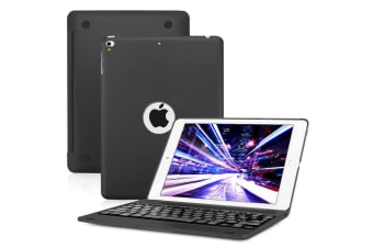 "For iPad 9.7"" 2018 6th Gen Bluetooth Aluminum Keyboard Smart Case Stand Cover AU-Black"