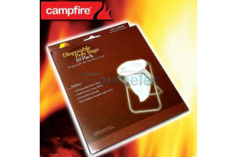 10x DISPOSABLE REPACEMENT BAGS SUIT PORTABLE OUTDOOR CAMP CAMPING TOILET CPT1