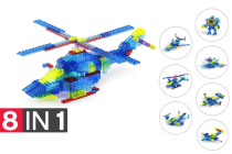 Lego-compatible MetaMorph Blocks (Light Up Helicopter)