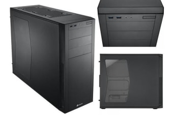 Corsair 200R Window ATX Mid-Tower Case Black 7x PCI Slots (LS)