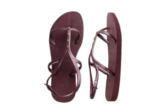 Havaianas Allure Maxi Thongs (Grape Wine, Brazil 45/46)