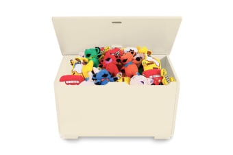 Gem Toys 58cm 50L Wood Children/Kids Box/Chest F/Clothes/Toy Storage w/Lid Cream