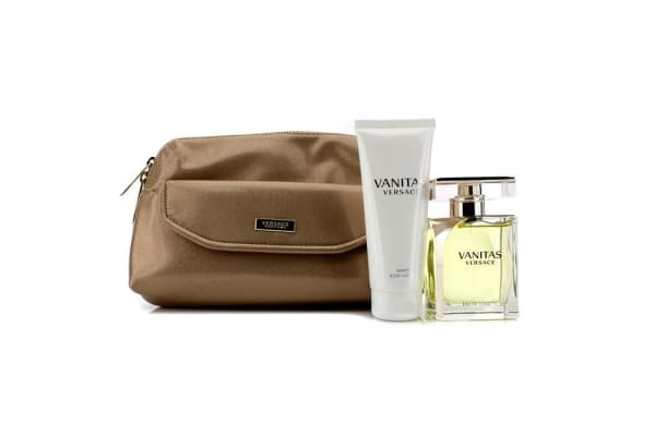 Versace Vanitas Coffret: Eau De Toilette Spray 100ml/3.4oz + Body Lotion 100ml/3.4oz + Bag (2pcs+1Bag)