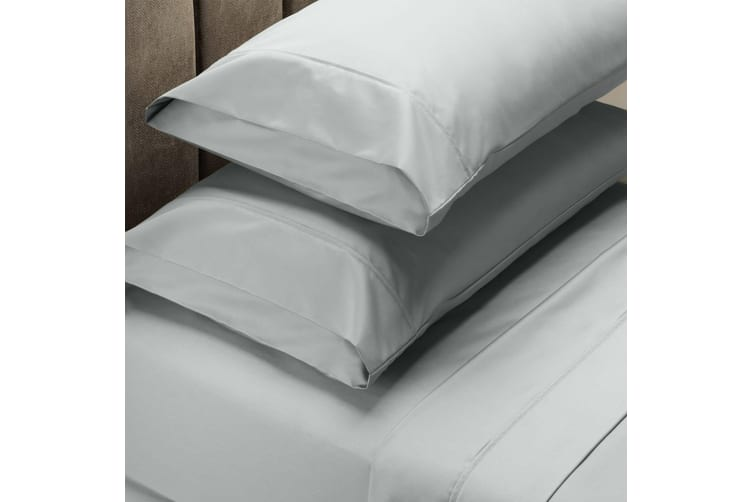 Royal Comfort 1000 Thread Count Sheet Set Cotton Blend Ultra Soft Touch Bedding - King - Silver