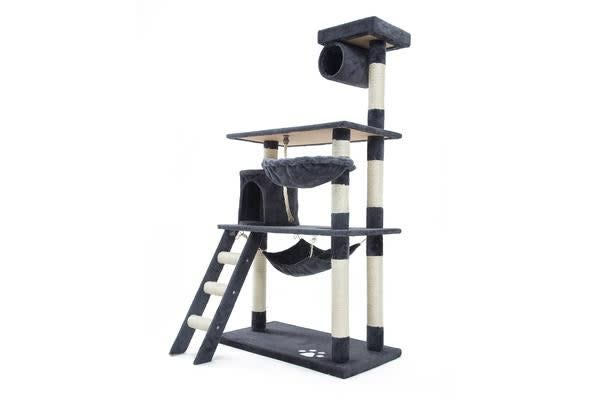 Cat Tree Scratcher MAPLE 141cm - GREY